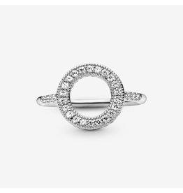 Pandora Pandora Ring,191039CZ, Hearts Of Pandora Halo, Clear CZ