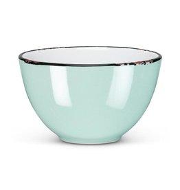 Abbott Blue Enamel Bowl
