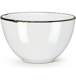 Abbott White Enamel Bowl