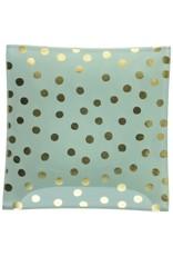 Abbott Square Polka Dots Plate