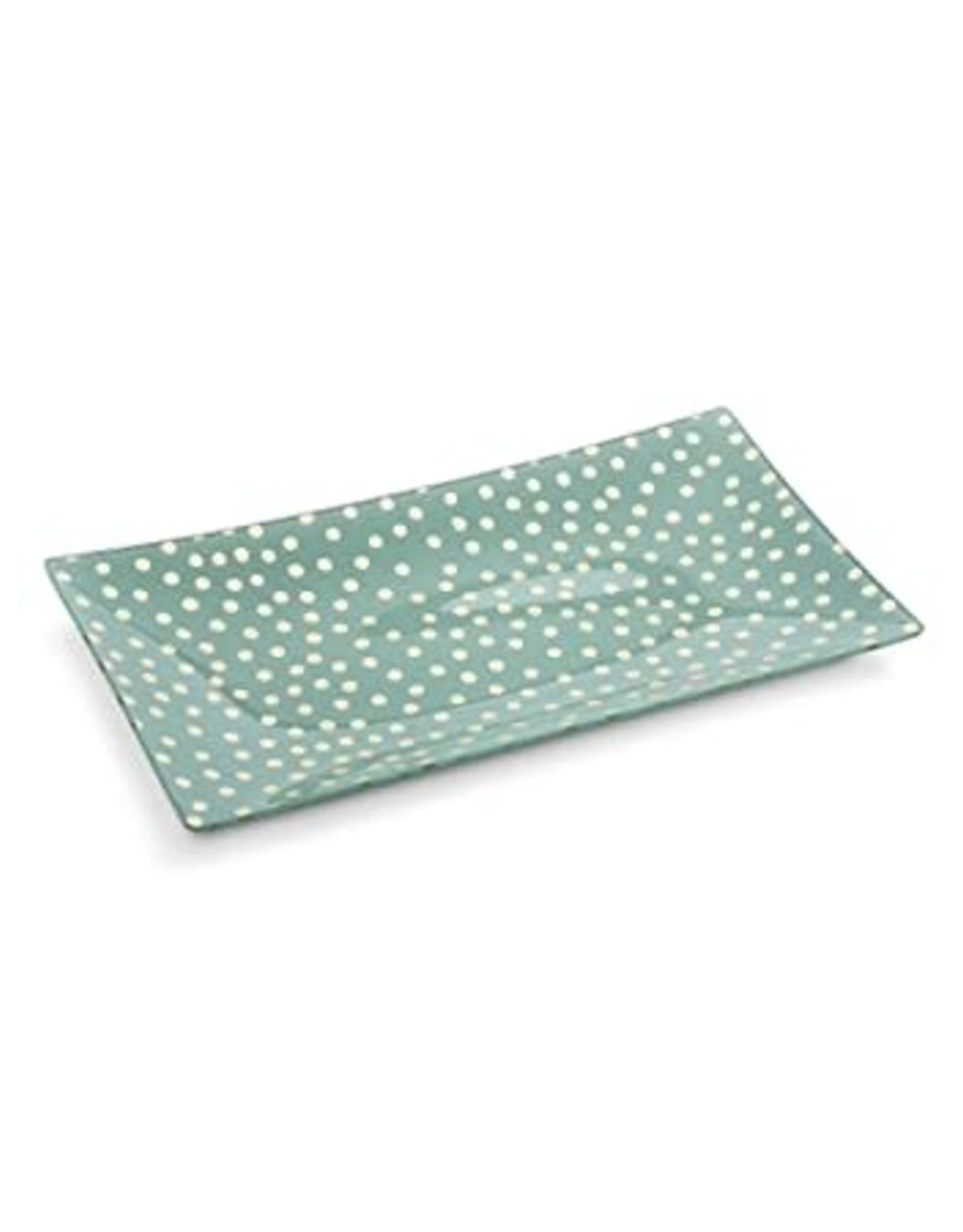Abbott Plate Rectangle Polka Dots