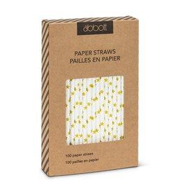 Abbott Paper Straws Gold Stars
