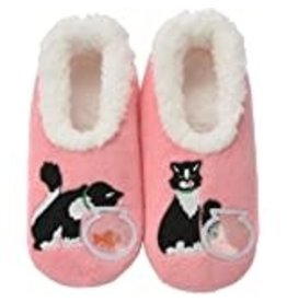 Snoozies Slippers Cat & Fishbowl Large