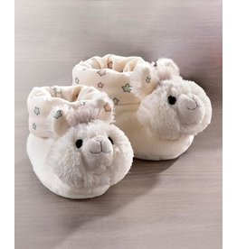 Lil' Llama White Rattle Booties