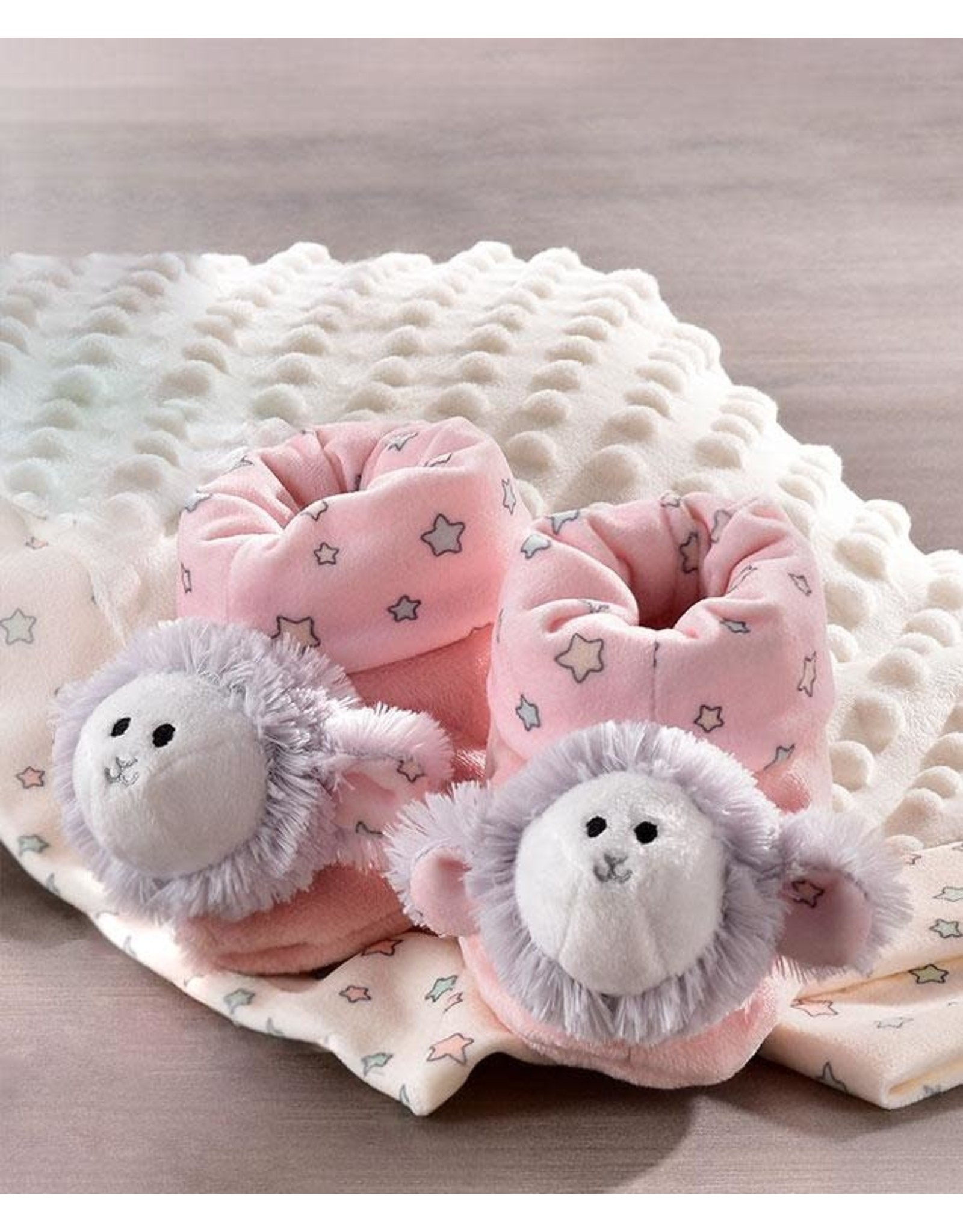 Lil' Llama Pink Rattle Booties