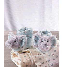 Lil' Llama Blue Rattle Booties