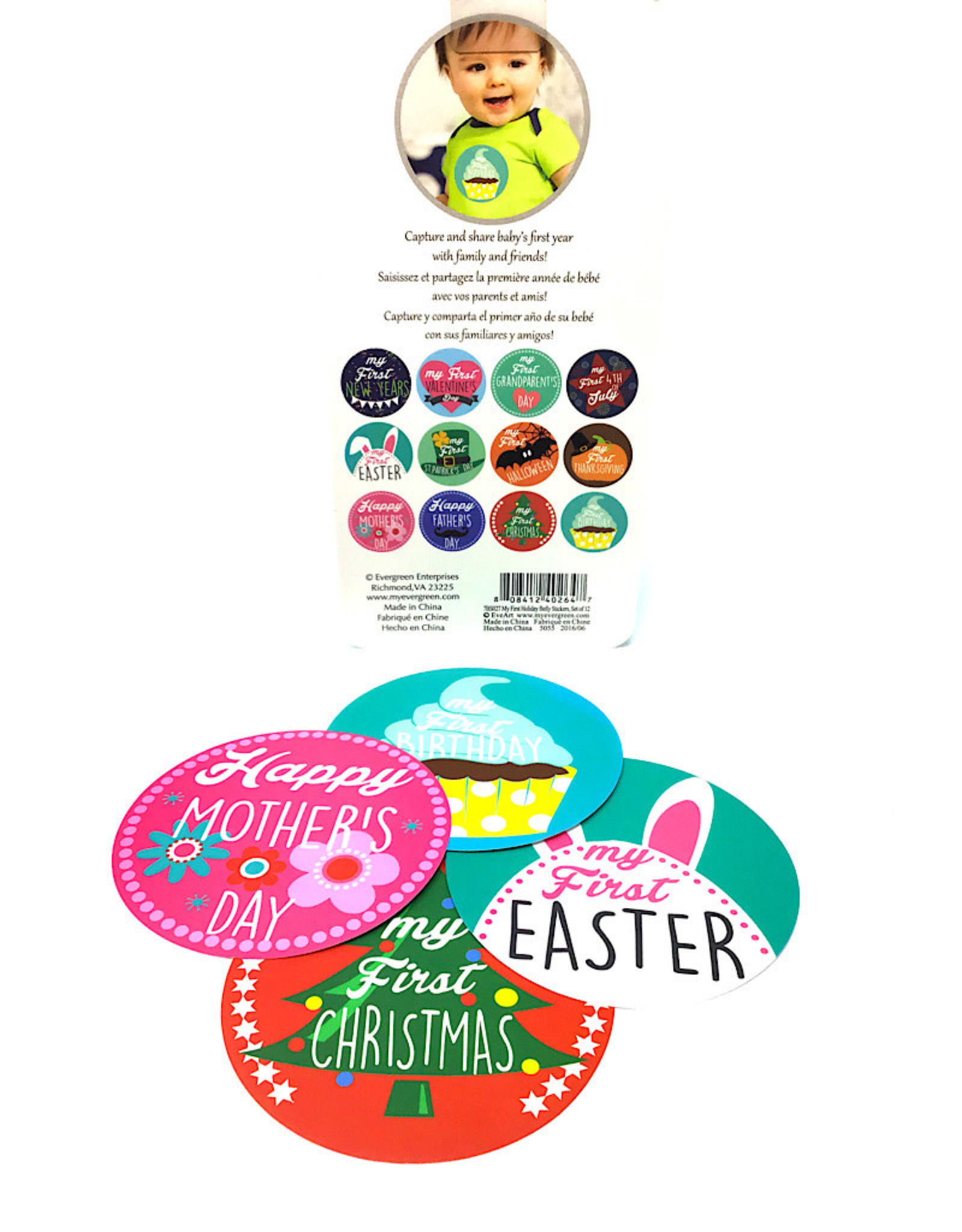 First Holiday Belly Stickers