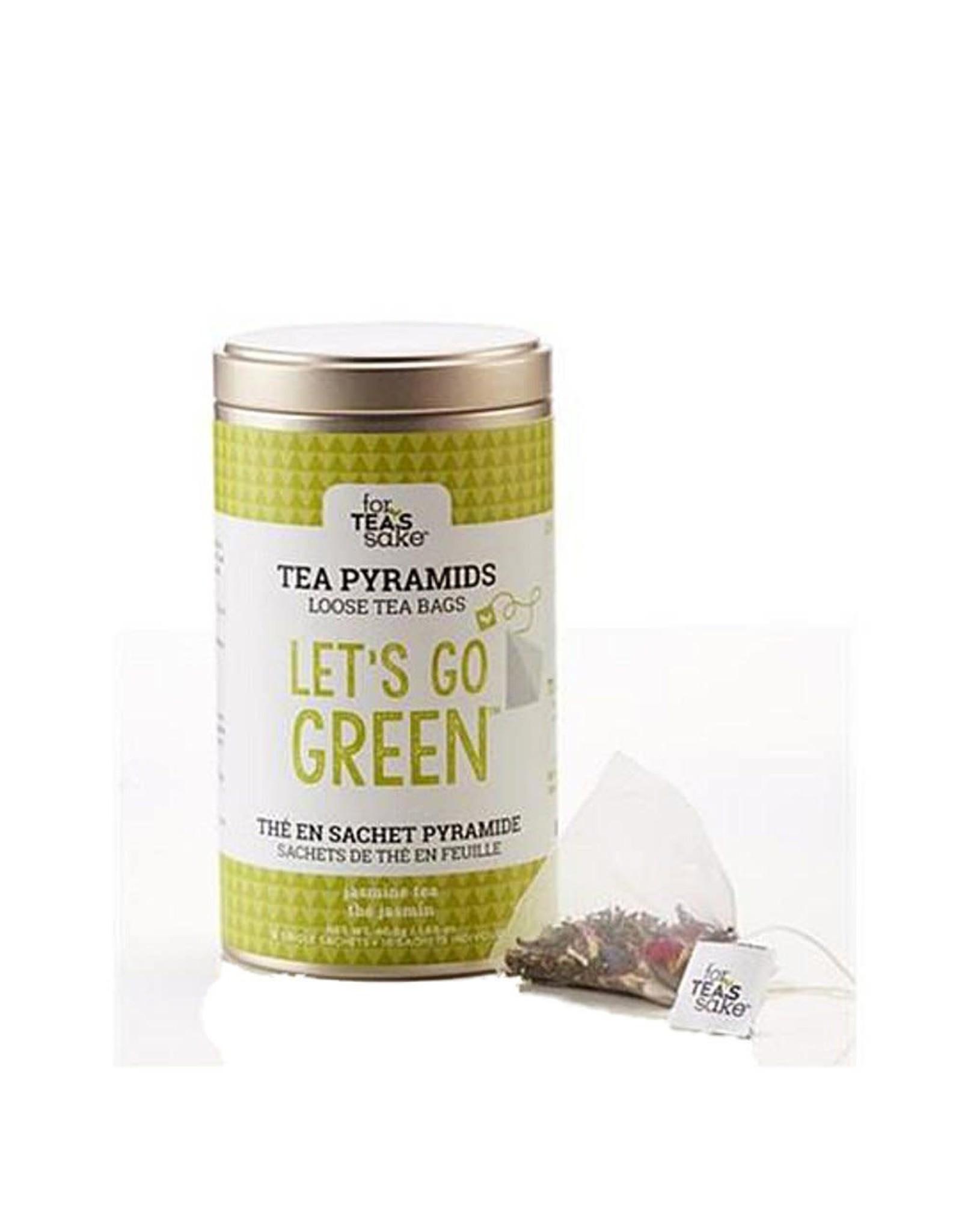For Tea's Sake Tea Pyramids Loose Tea Bags