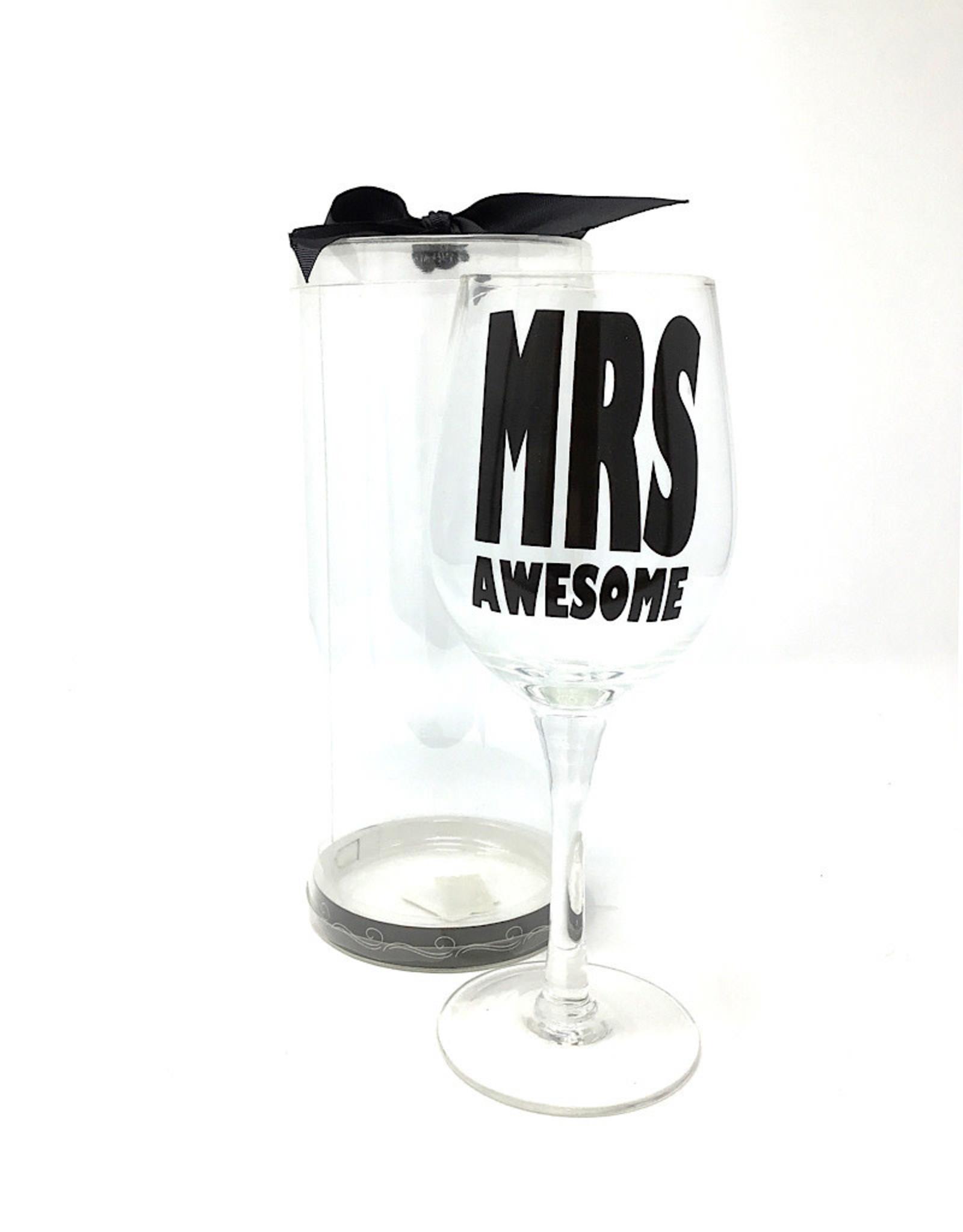 Ganz Wine Glass Mrs Awesome