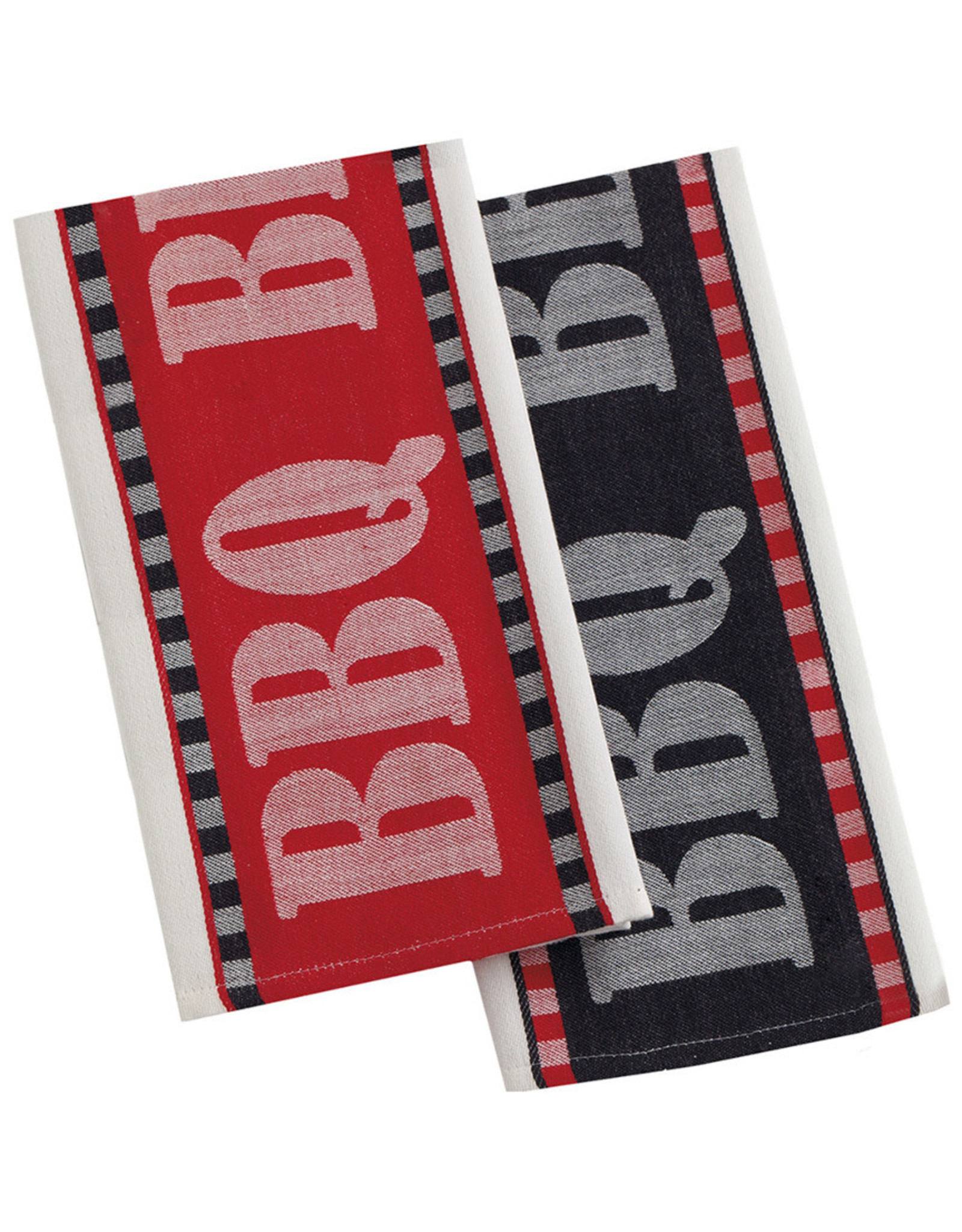 Design Imports Black BBQ Kitchen Towel