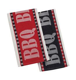 Design Imports Black BBQ Kitchen Towel