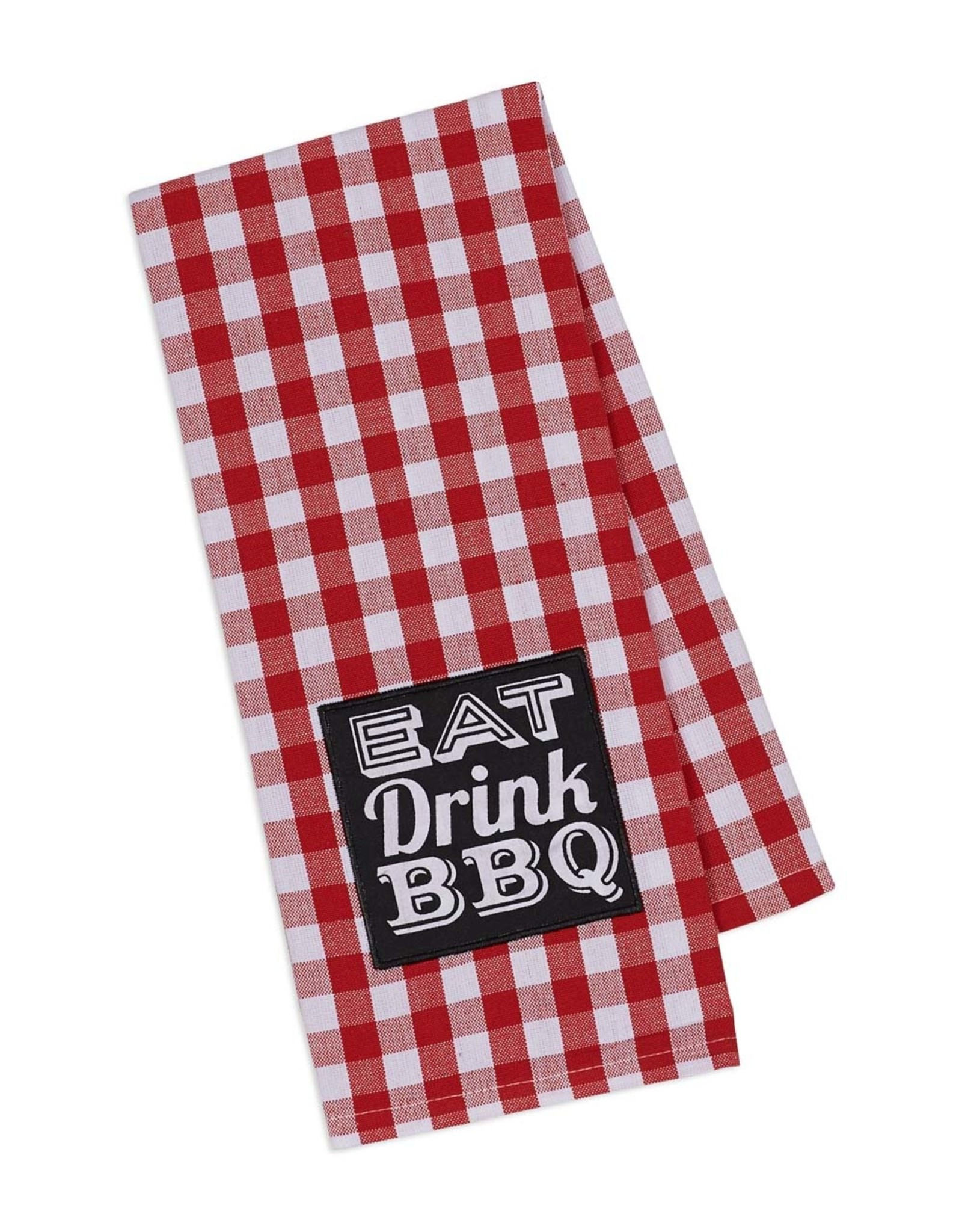 Design Imports Kitchen Towel Eat Drink BBQ