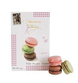 Macarons de Pauline Fraise - Pistache - Chocolat