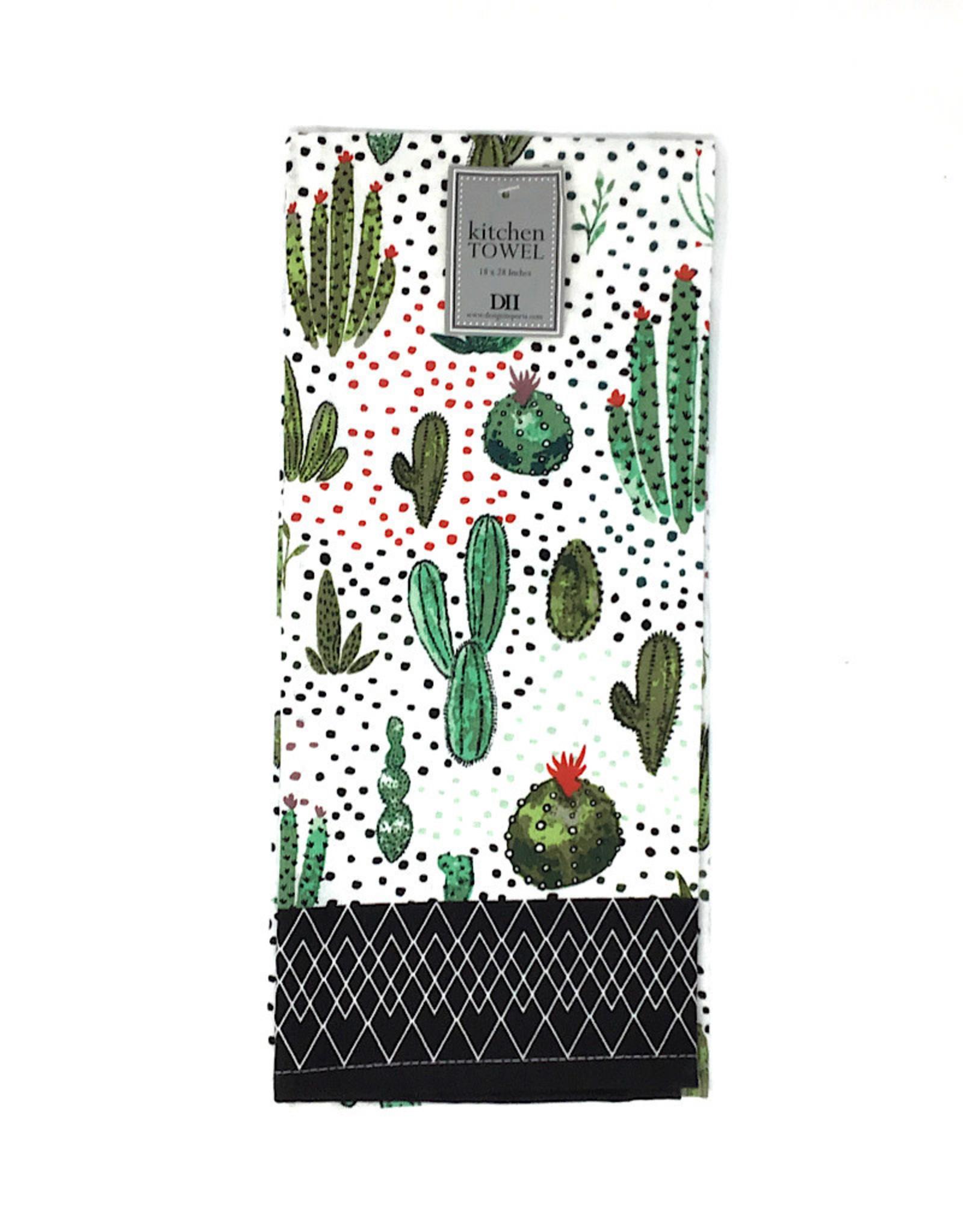 Design Imports KitchenTowel Cactus