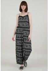 Molly Bracken, Graphic Fluid Trouser Suit, Rhino Black