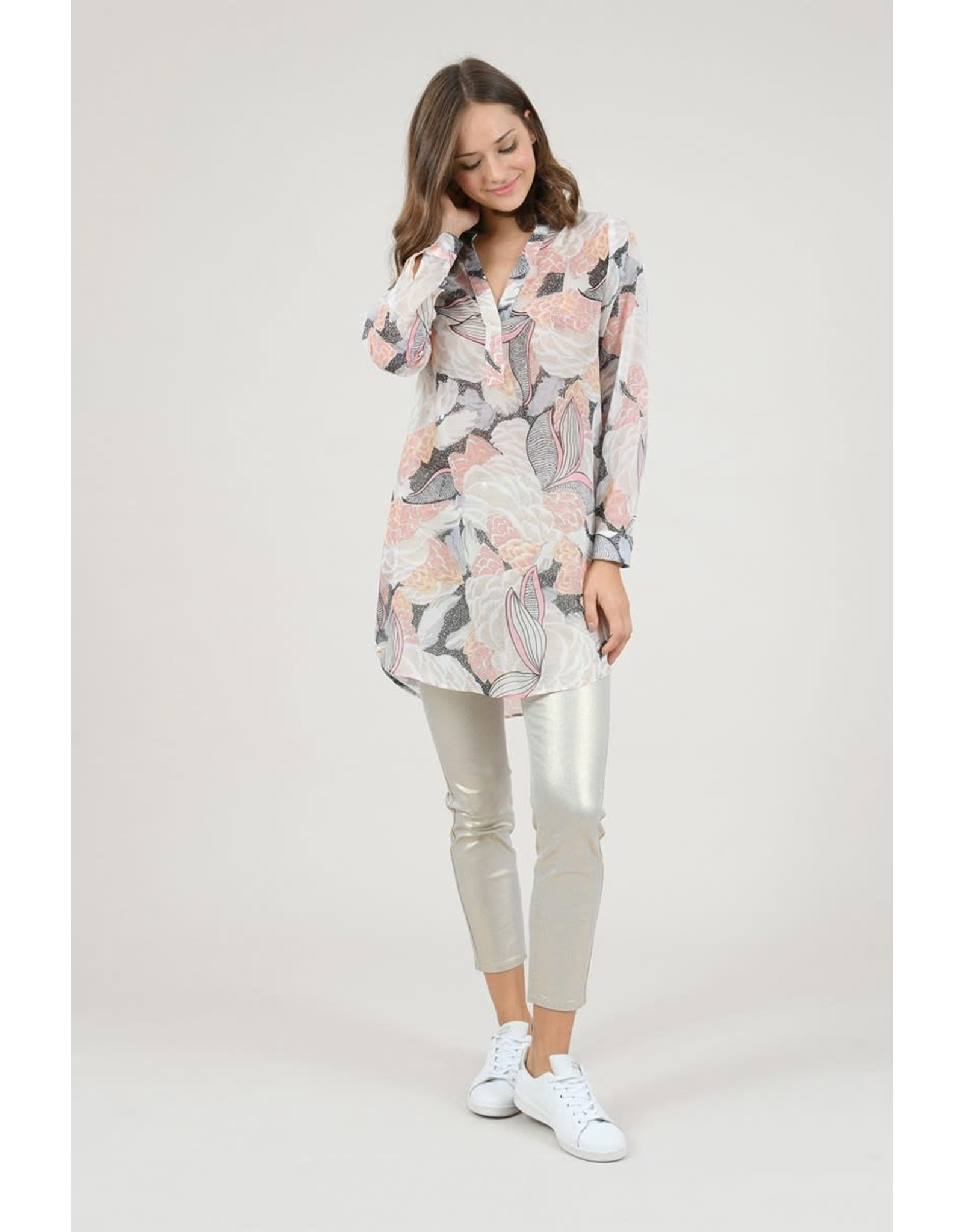 Molly Bracken, Printed Tunic, Lotus Pink