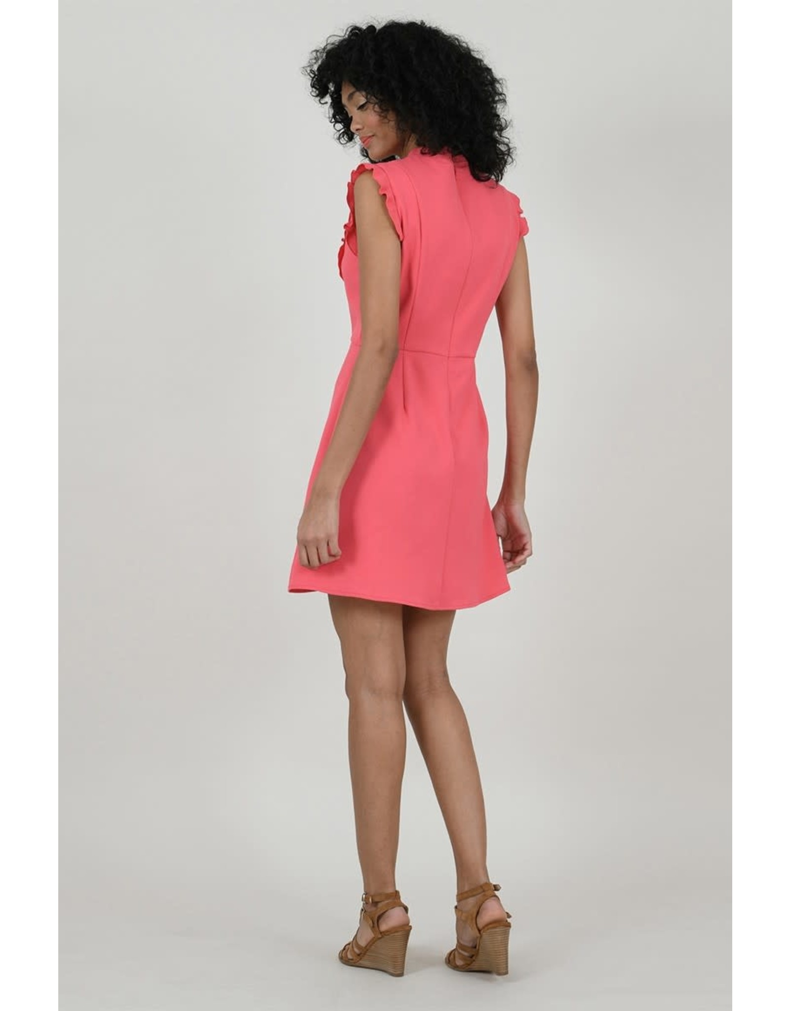 Molly Bracken, Skater Flounce Dress, Coral