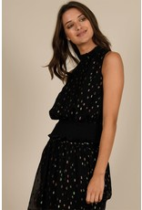 Molly Bracken, Polka Dot Top, Black