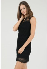 Molly Bracken, Lade V-Neck Dress, Black
