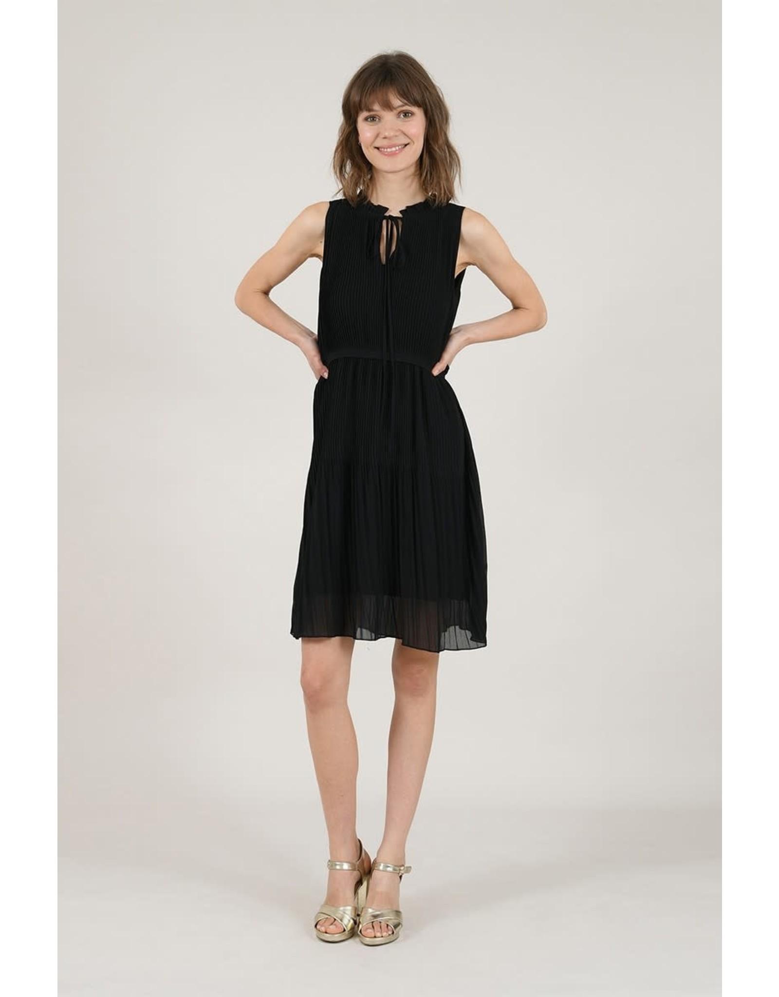 Molly Bracken, Shirring Mimi Dress, Black