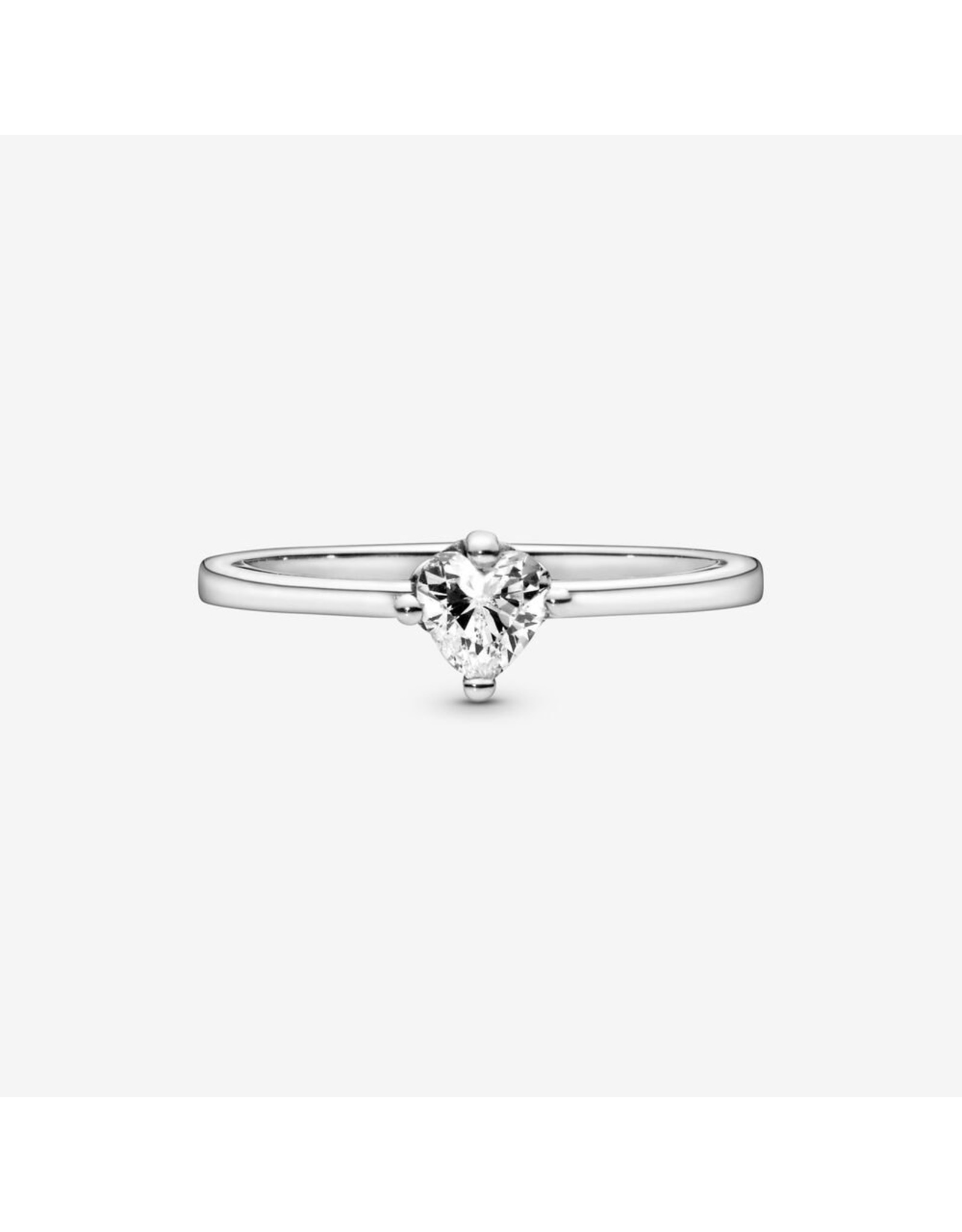 Pandora Pandora Ring, (198691C01) Heart Solitaire