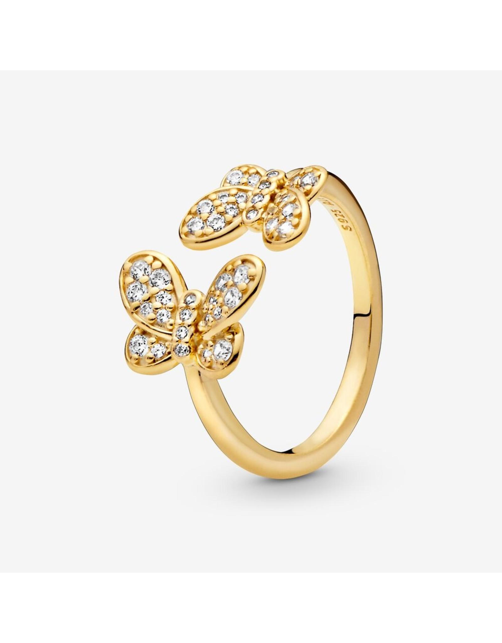 Pandora Pandora Ring, Dazzling Butterflies, Clear CZ In Shine
