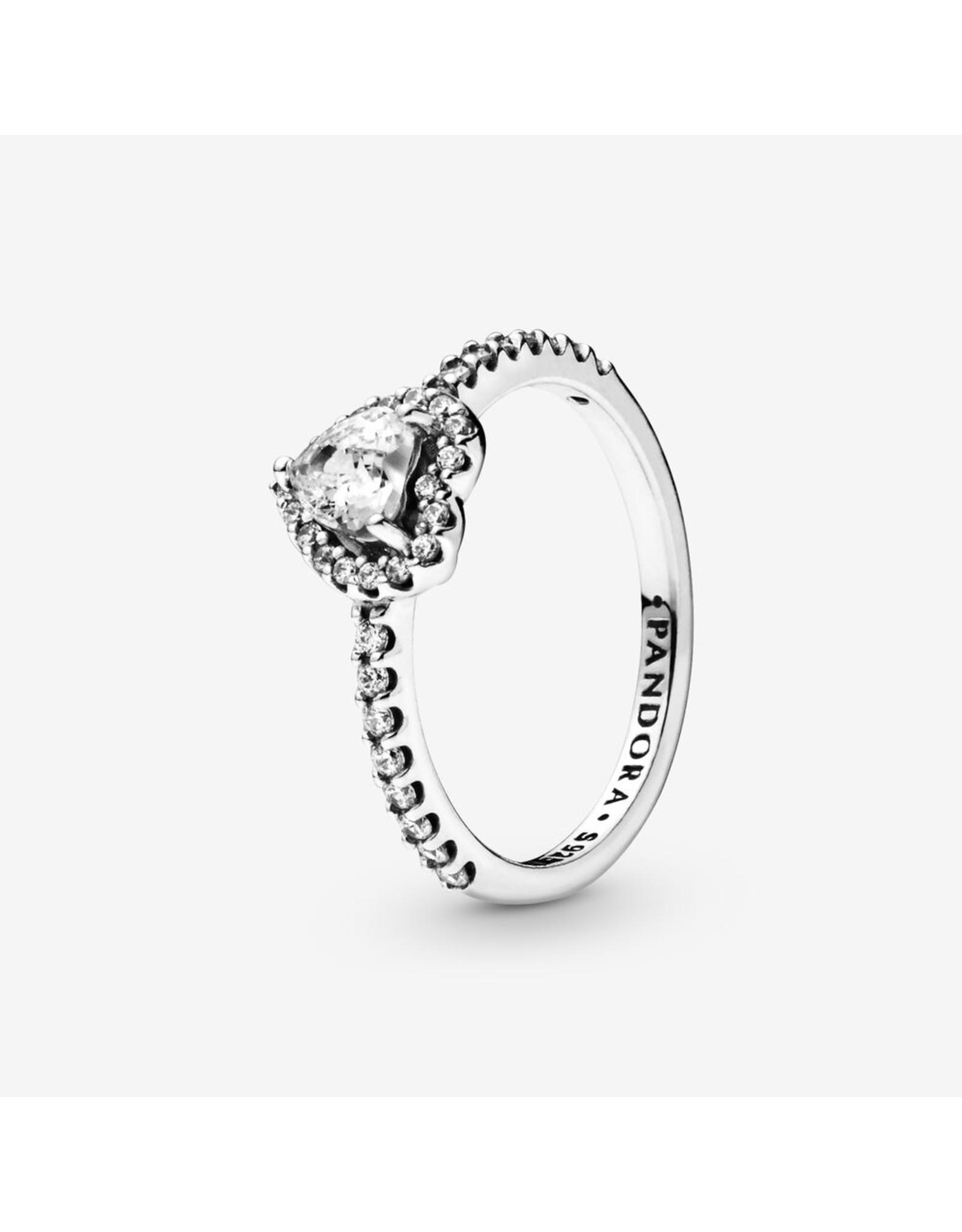 Pandora Pandora Ring, (198421C01) Elevated Heart, Clear CZ
