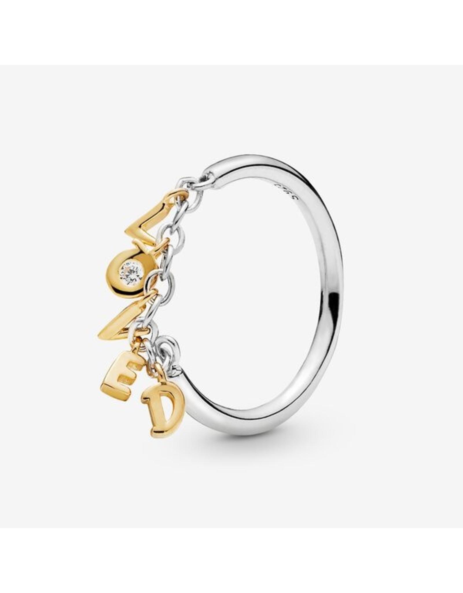 Pandora Pandora Ring, Shine, Loved Script, Clear CZ