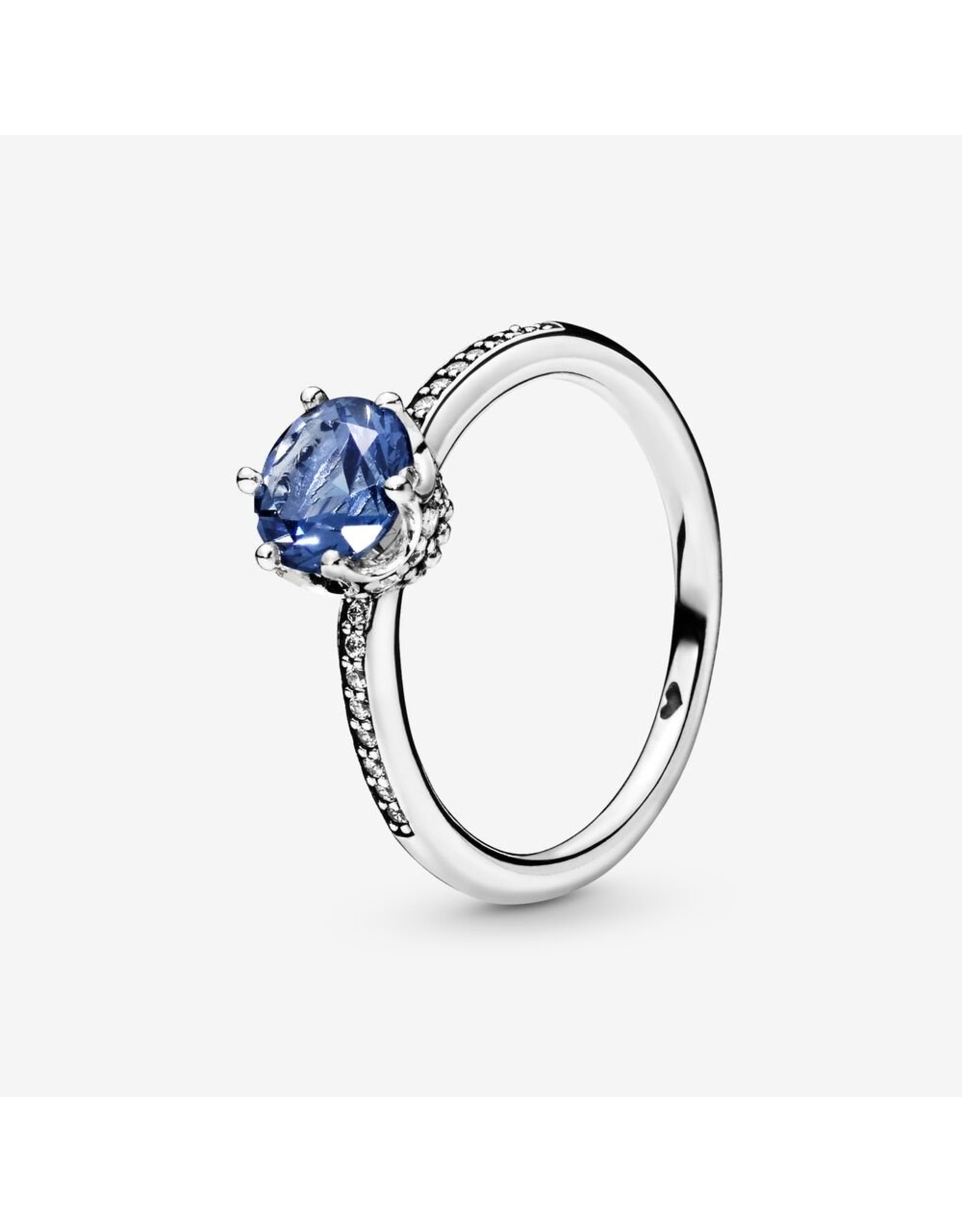 Pandora Pandora Ring, (198289NSWB) Blue Sparkling Crown