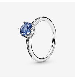 Pandora Pandora Ring, (198289NSWB) Blue Sparkling Crown