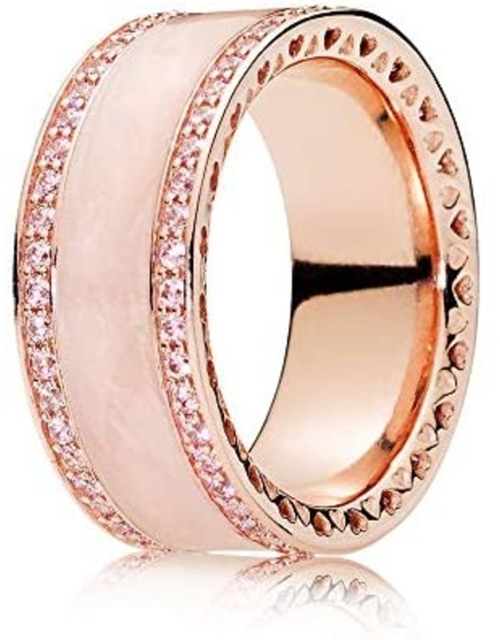 Pandora Pandora Ring, Heart Of Pandora Rose Gold, Clear CZ