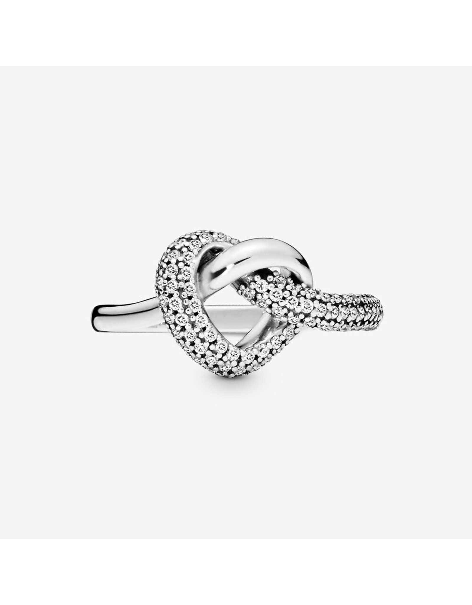 Pandora Pandora Ring,(198086CZ) Knotted Heart Clear CZ