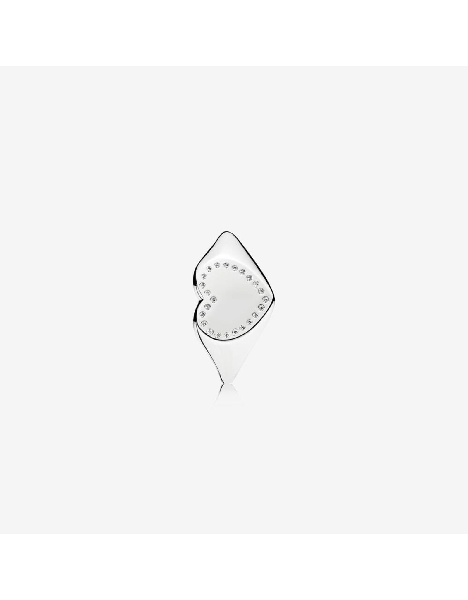 Pandora Pandora Ring, Heart Signet, Clear CZ