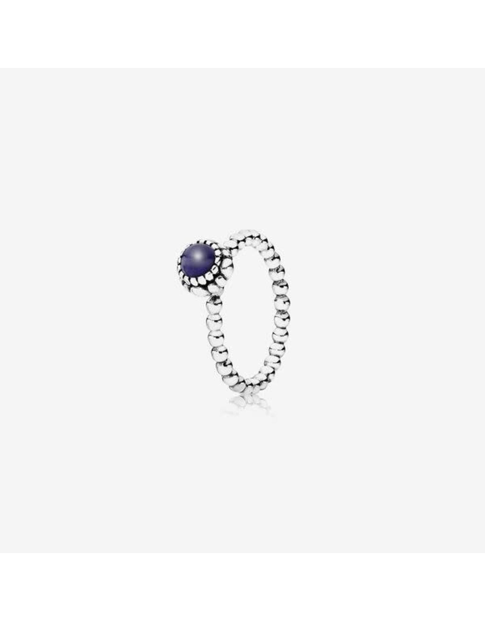 Pandora Pandora Ring, Lapis Lazuli & Silver September Birthstone