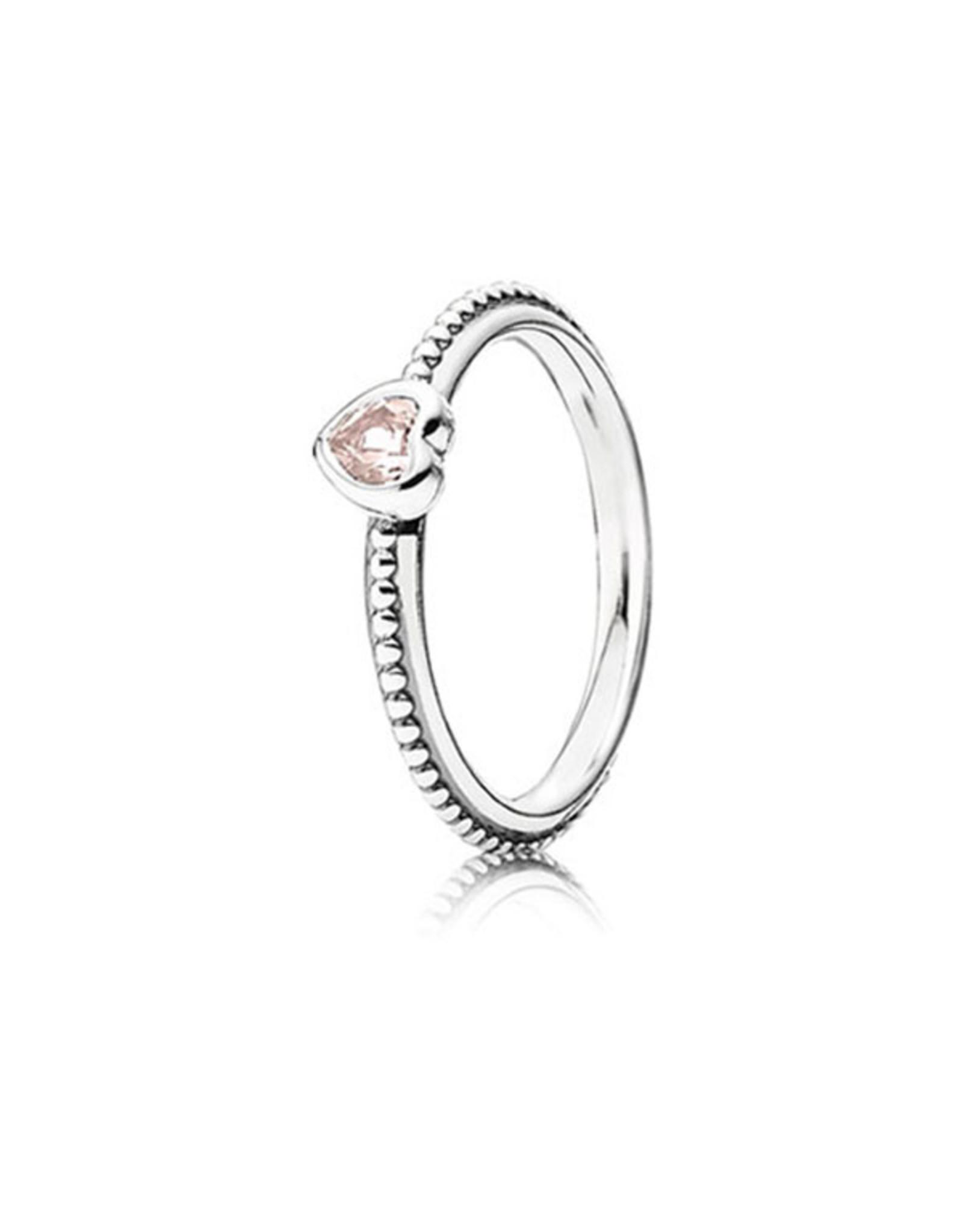 Pandora Pandora Ring, Light Pink, Delicate Heart