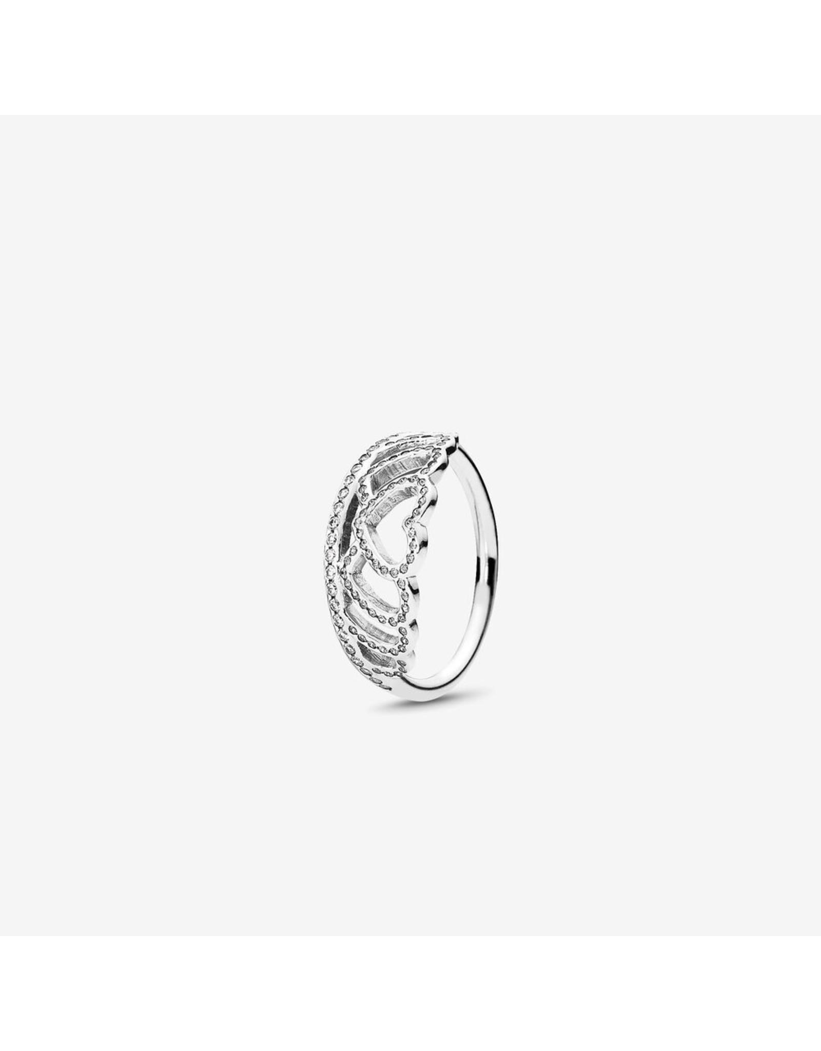 Pandora Pandora Ring, Tiara Hearts