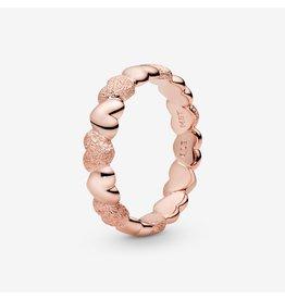 Pandora Pandora Ring, Rose Gold,Matte Brilliance Hearts