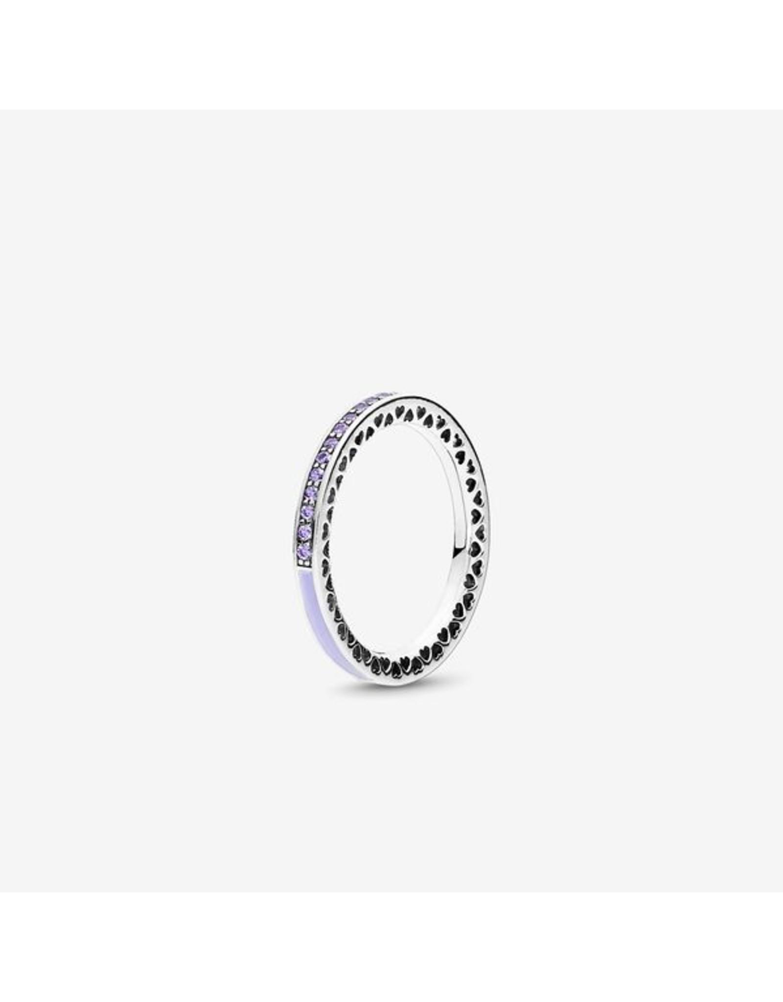 Pandora Pandora Ring, Radiant Heart Of Pandora, Lavender