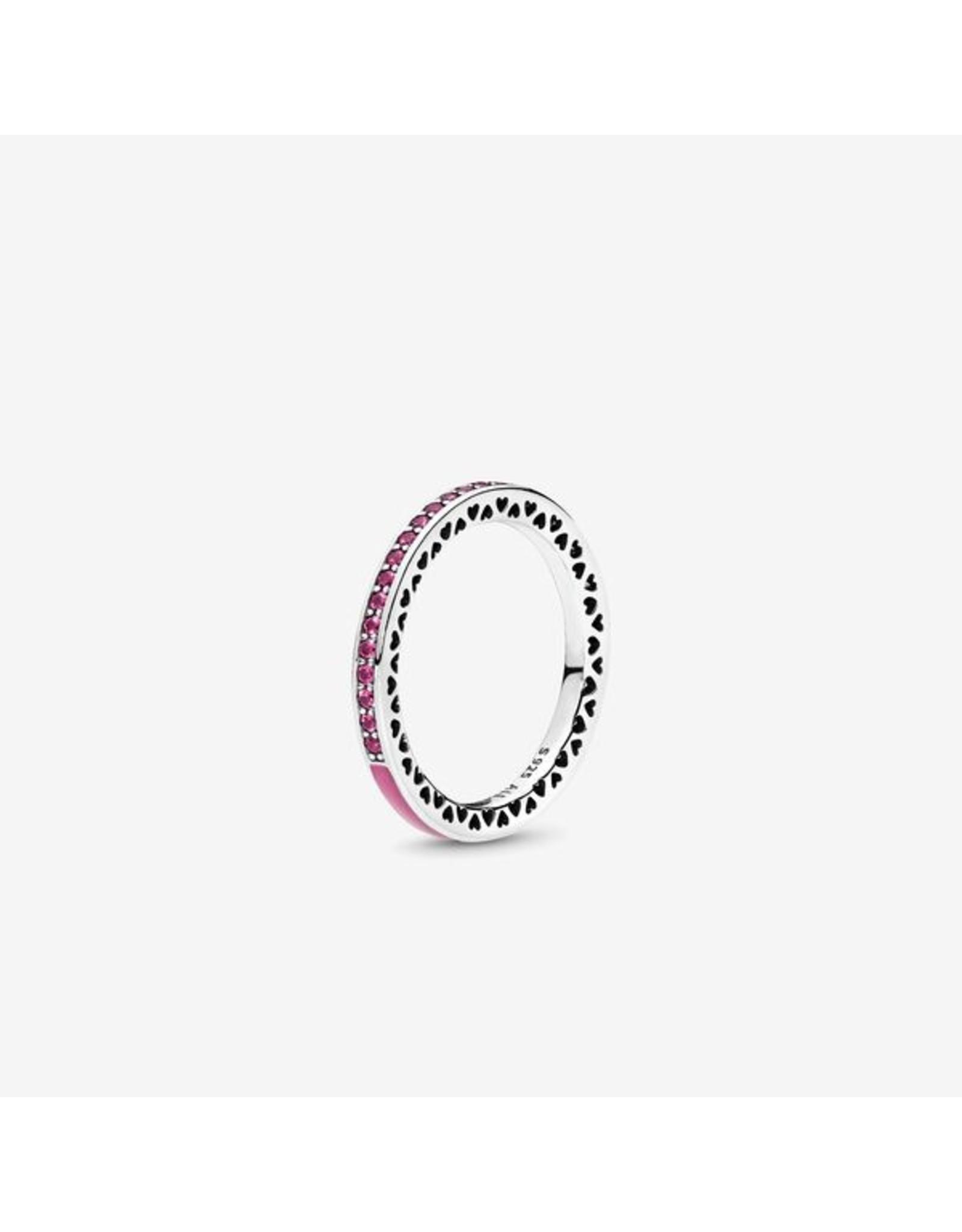 Pandora Pandora Ring, Radiant Heart Of Pandora, Cerise