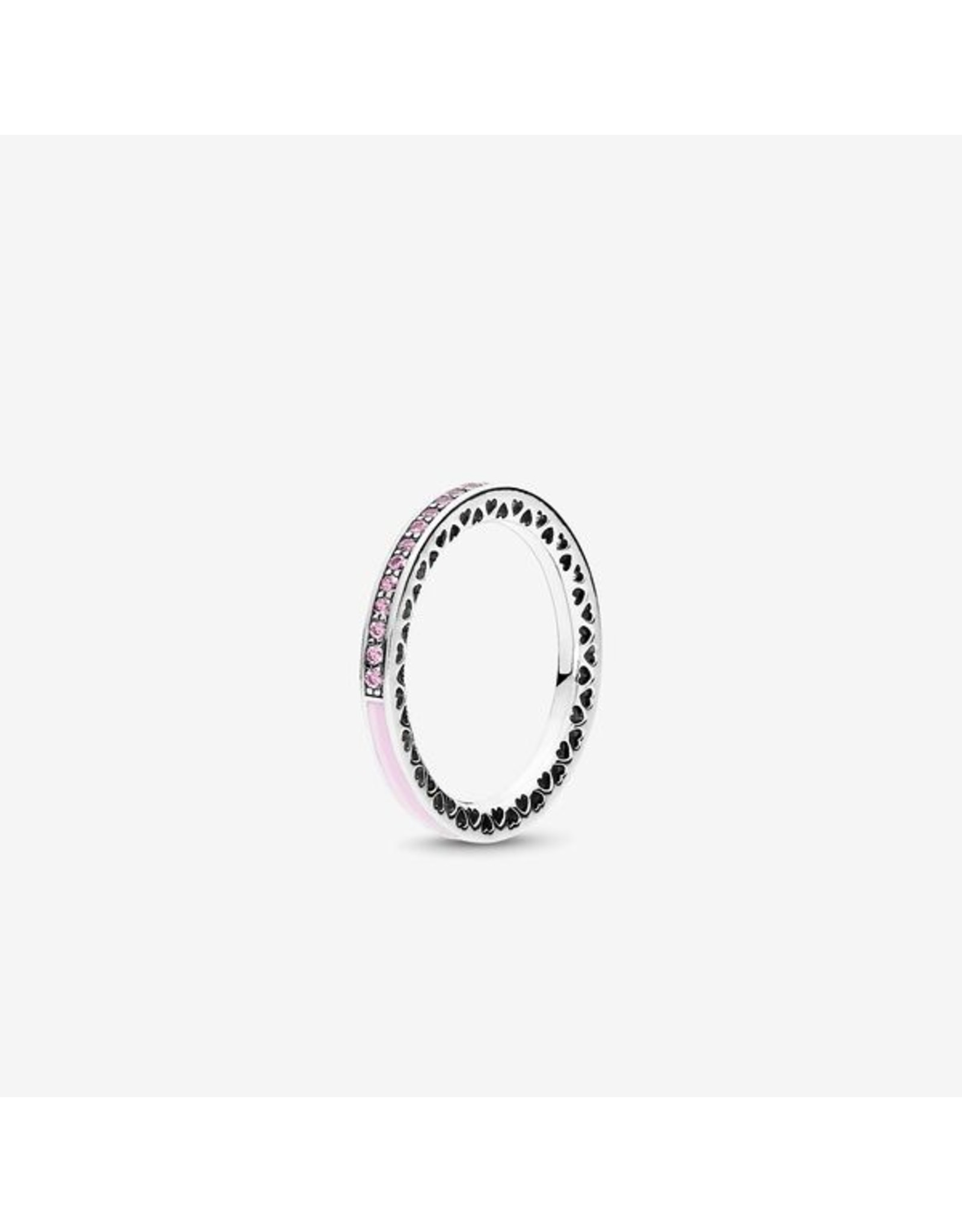 Pandora Pandora Ring, Radiant Heart Of Pandora, Light Pink