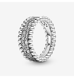 Pandora Pandora Ring, Beaded Pave Band