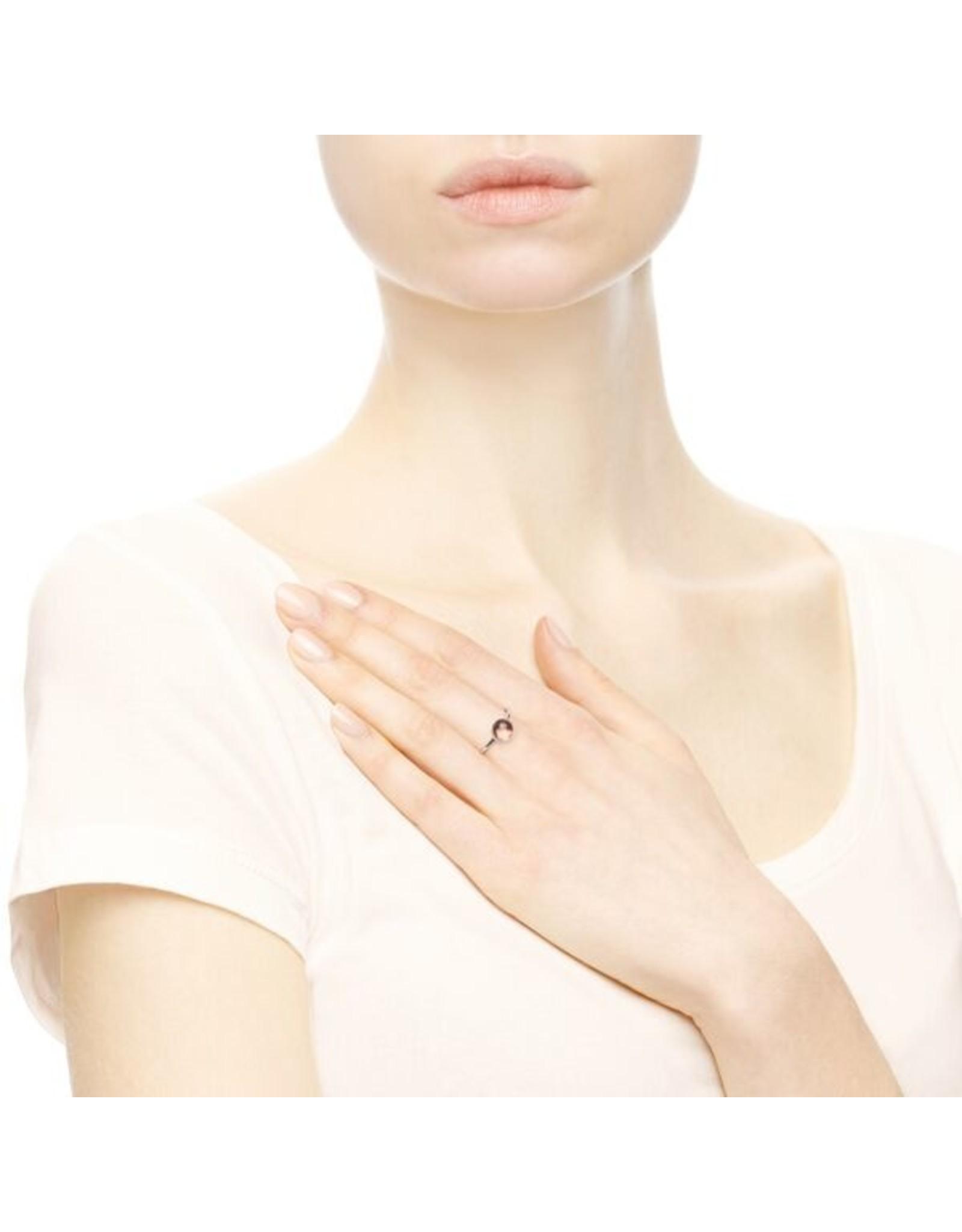 Pandora Pandora Ring, Poetic Droplet, Blush Pink Crystal