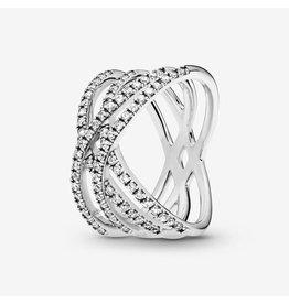 Pandora Pandora Ring, Cosmic Lines, Clear CZ