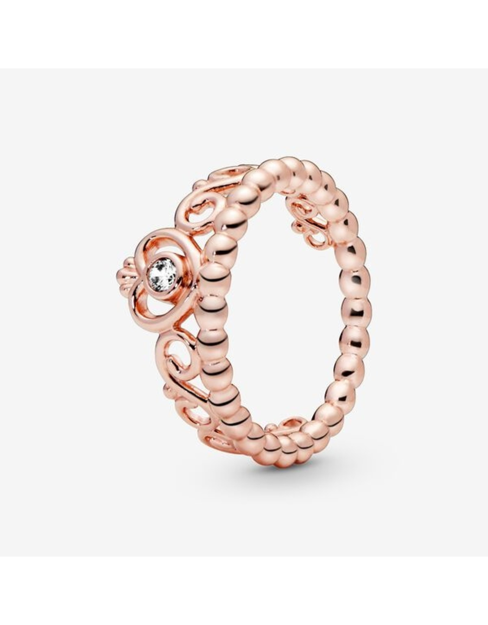 Pandora Pandora Ring,( 180880CZ) Rose Gold, My Princess Tiara, Clear CZ