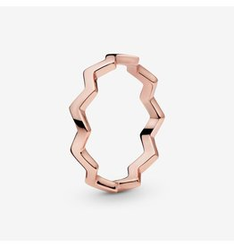 Pandora Pandora Ring, (187752) Rose Gold, Timeless ZigZag