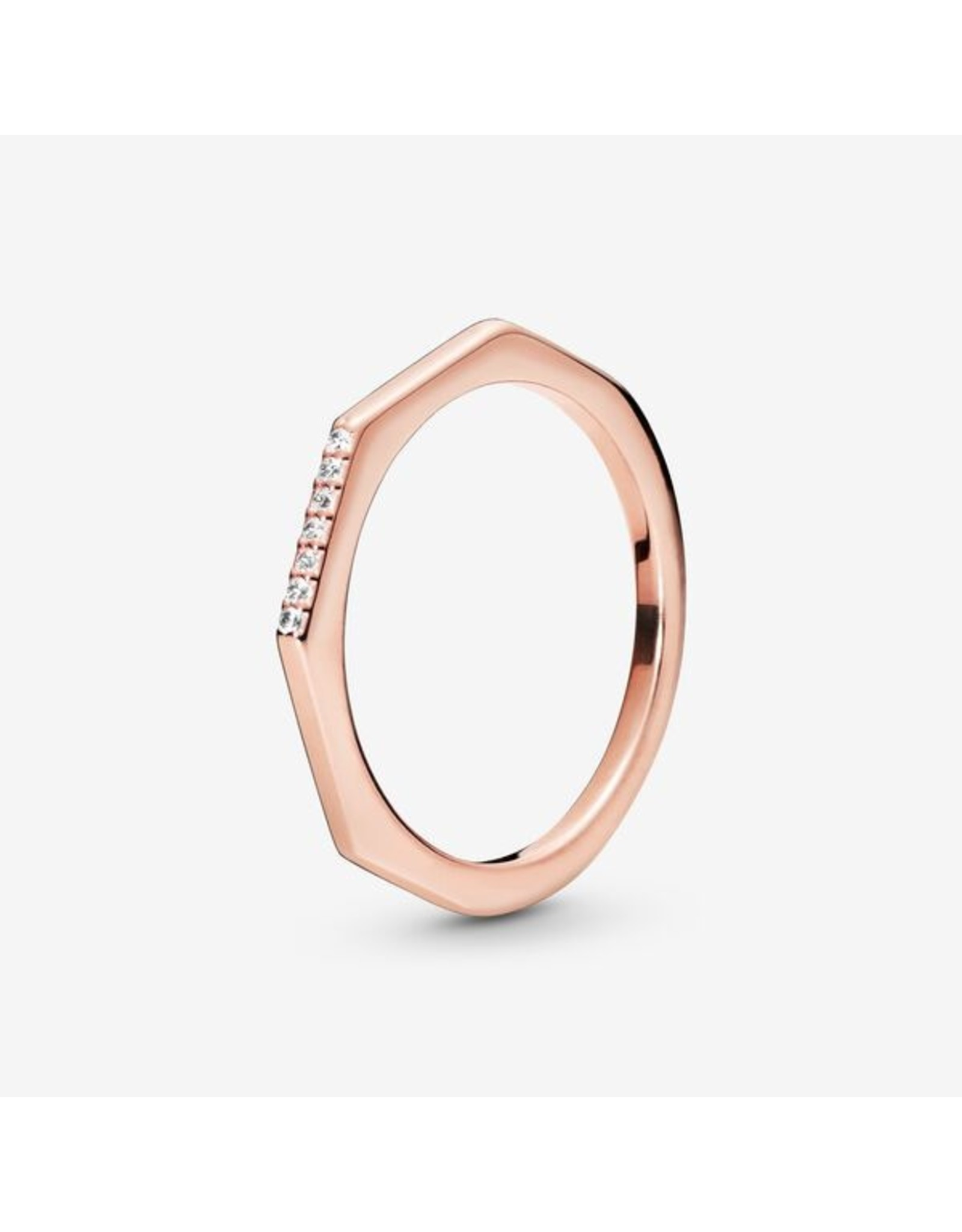 Pandora Pandora Ring,( 188343CZ) Rose Gold Multifaceted, Clear CZ
