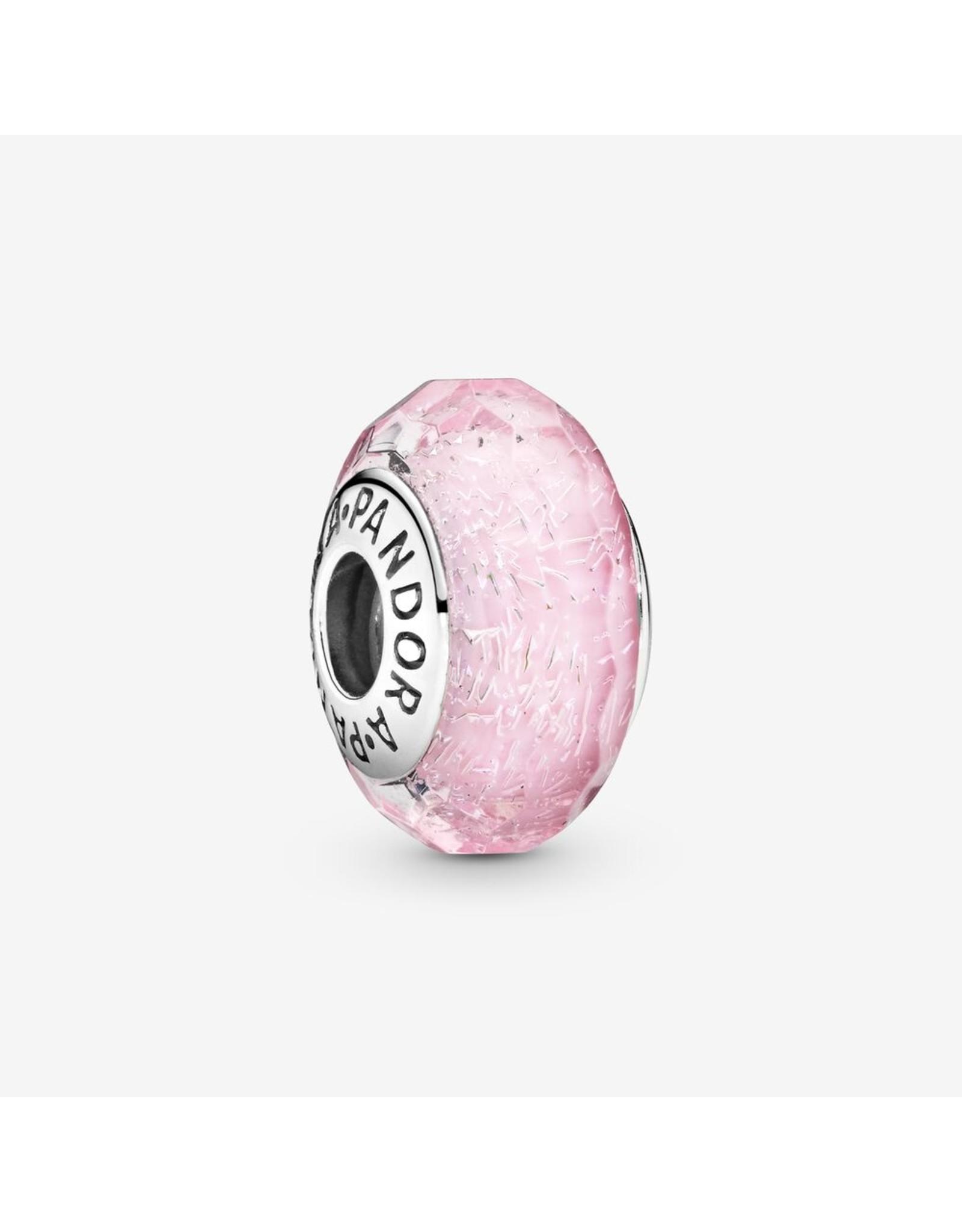 Pandora Pandora Charm, Murano, Pink Shimmer Glass