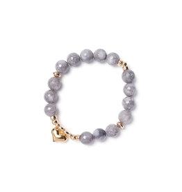 Beblue beblue Hopeful Bracelet, Grey (BBSURHOPE-G)