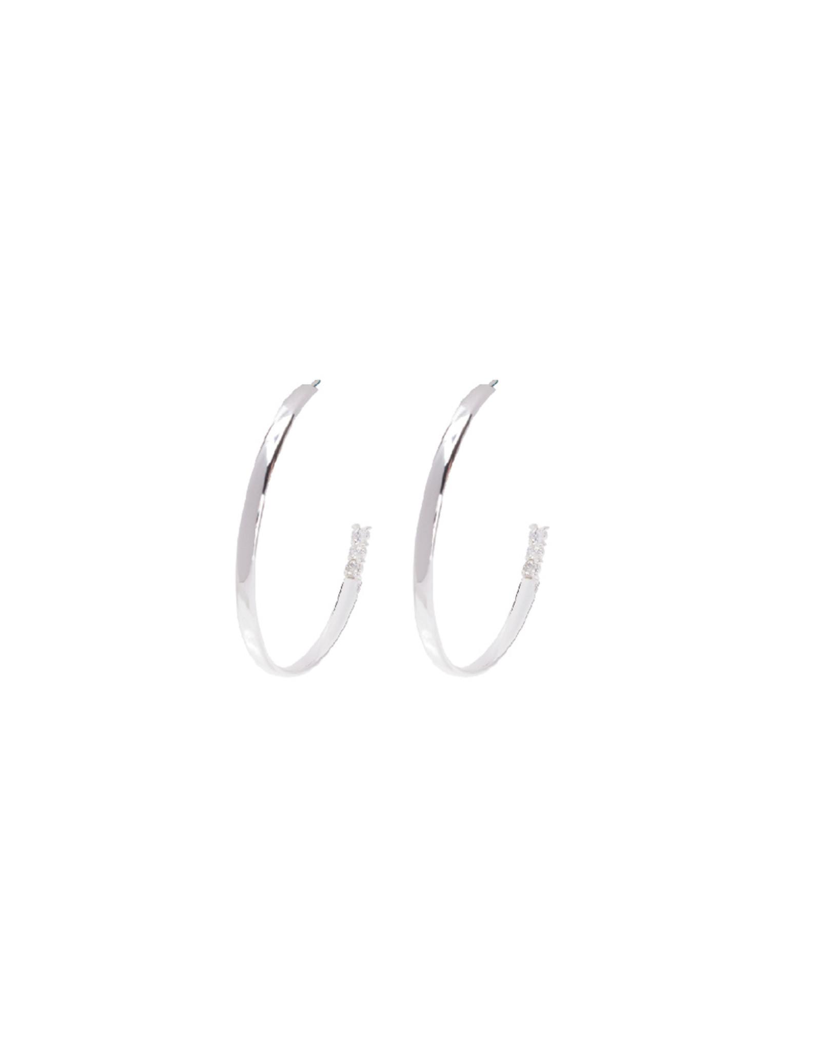 Beblue beblue Large Hoops, Earrings, Silver (BO1509-SLV)