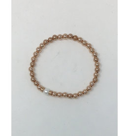 Beblue beblue Gold Filled 14K Bracelet, White Pearl (BBROSS-PCM)